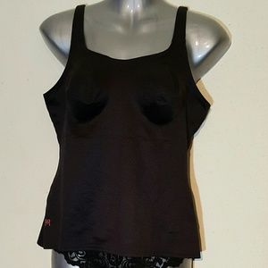 Ruby Ribbon Black Full Support Cami
